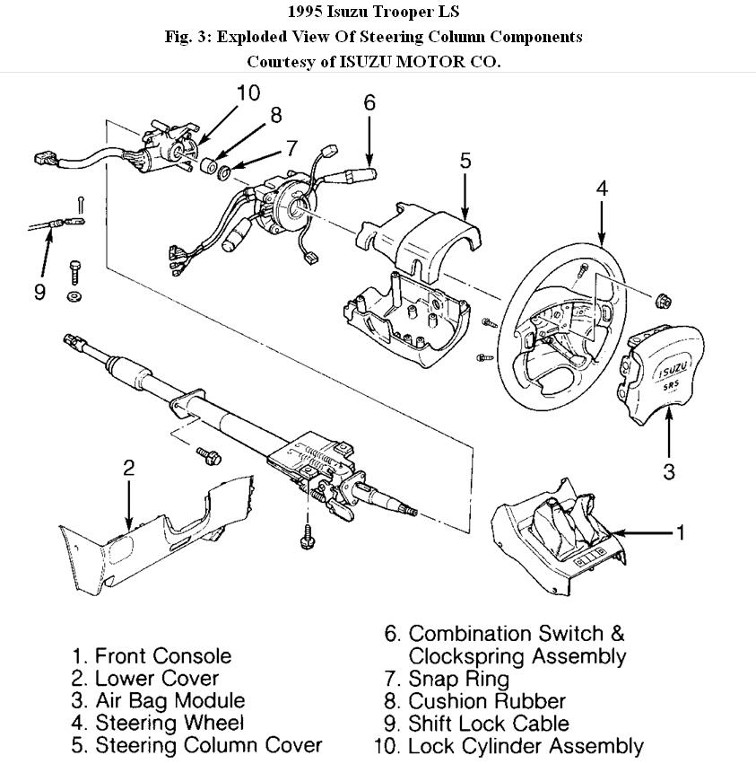 1998 isuzu rodeo steering diagram  isuzu  auto parts