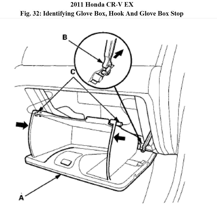 how to remove 2010 honda pilot glove box