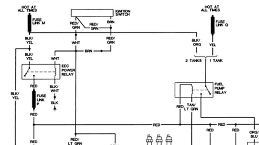 1988 E250 Van  Fuel System Fuse E250 1988 Van Want Start