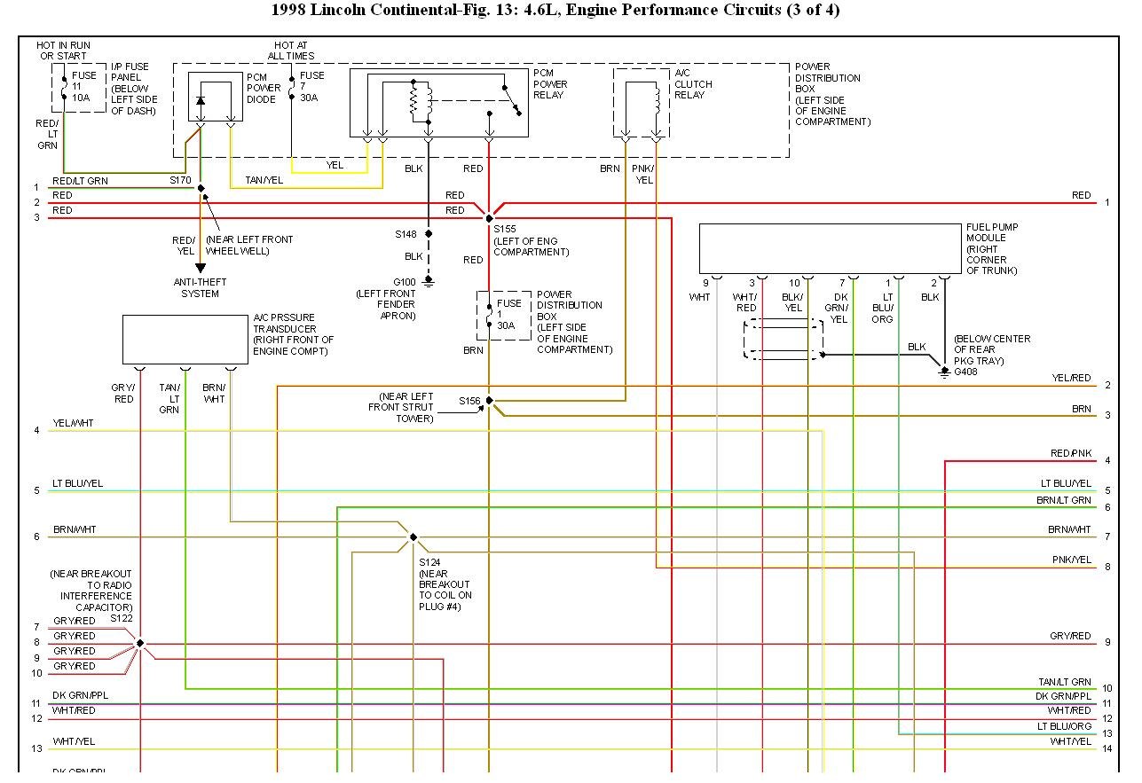 98 Cotinental Fuel Pump Wiring Diagram  I Need A Wiring