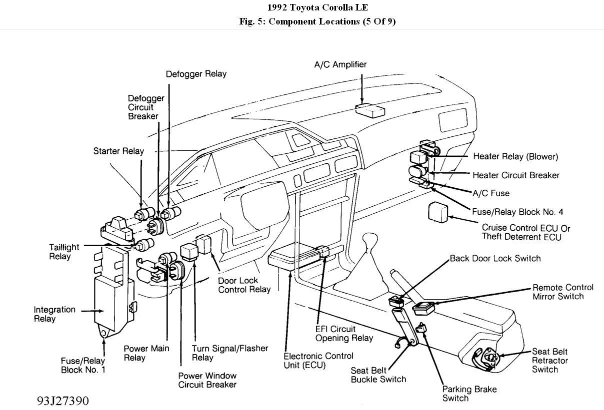 Fuses  U0026 Relay Location  I Have A 1992 Toyota Corolla Le