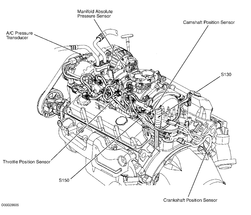 Where Is The Camshaft Positioning Sensor Located On A 2002 Dodge