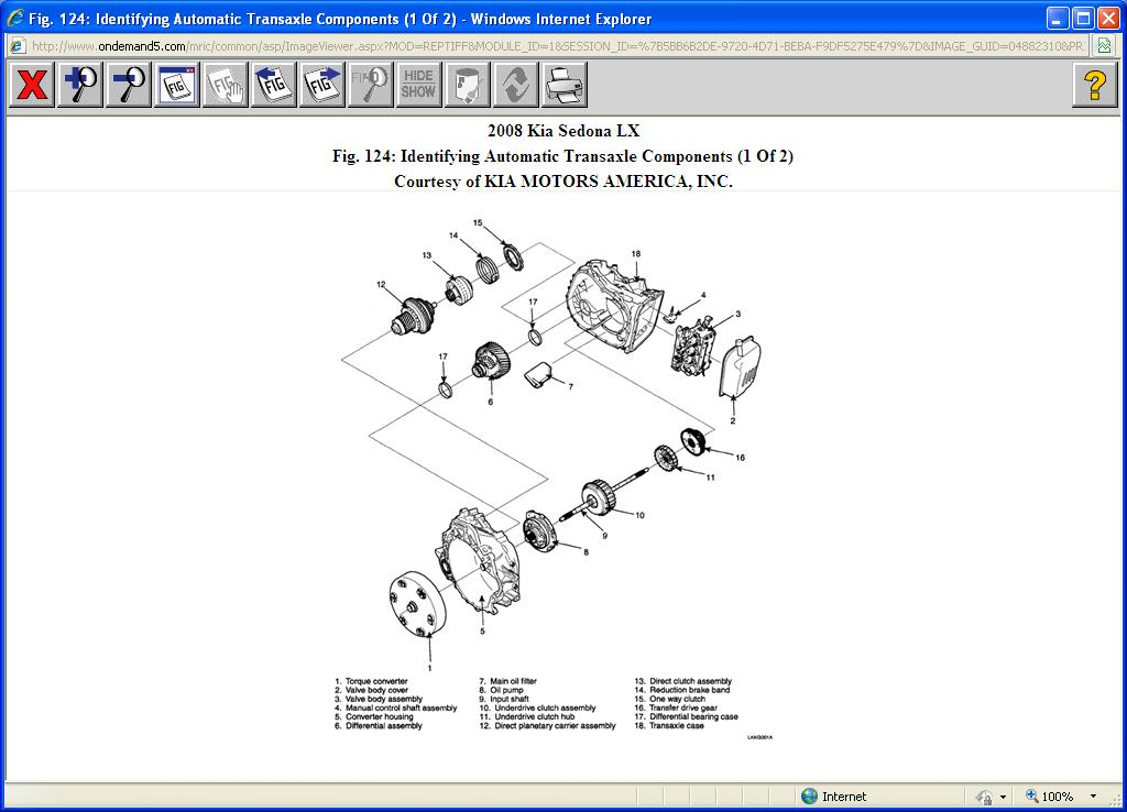 Kia Sedona Transmission Filter  I Have A 2008 Kia Sedona