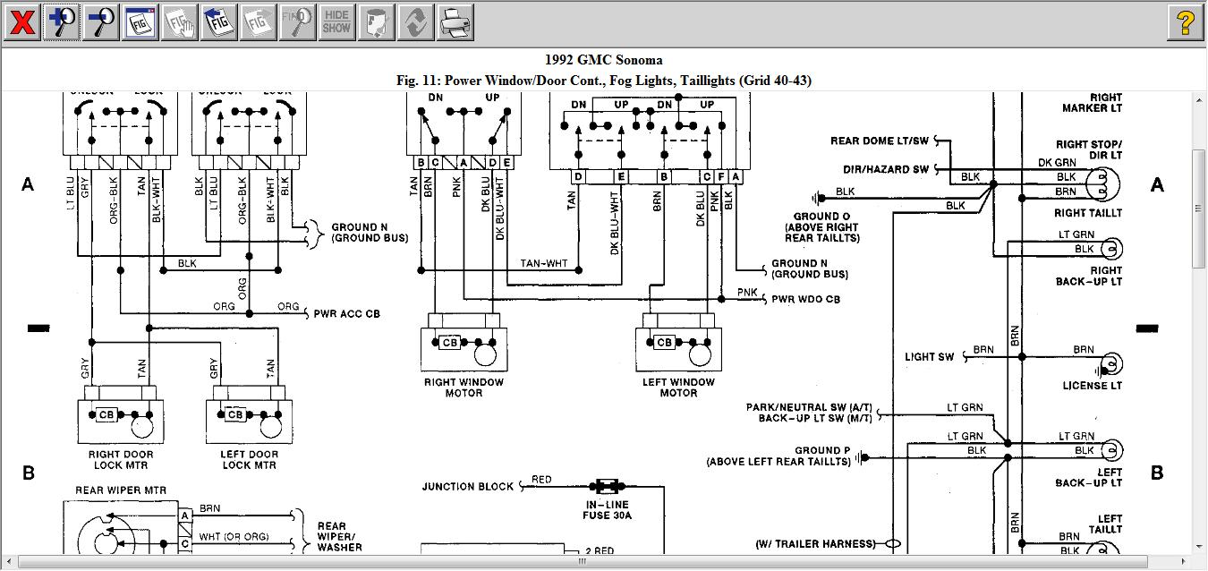 1992 Gmc Sonoma Fuse Box All Kind Of Wiring Diagrams On 91 Location Vacuum Auto Diagram 1991 1993