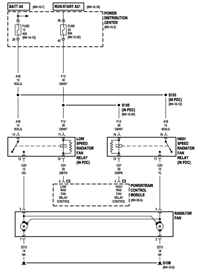 Fan Embly Dodge Stratus Wiring Diagram on