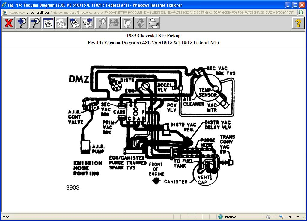 Vacuum Hose Diagram For 83 S10 V6 2wd