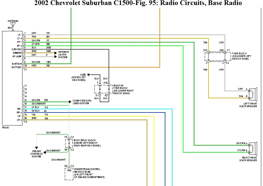 Radio Wiring Diagram For 2001 Chevy Suburban   44 Wiring Diagram Images