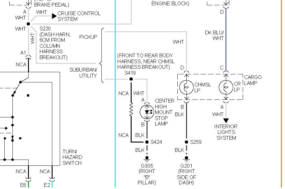 third brake light wiring short i have no voltage or. Black Bedroom Furniture Sets. Home Design Ideas