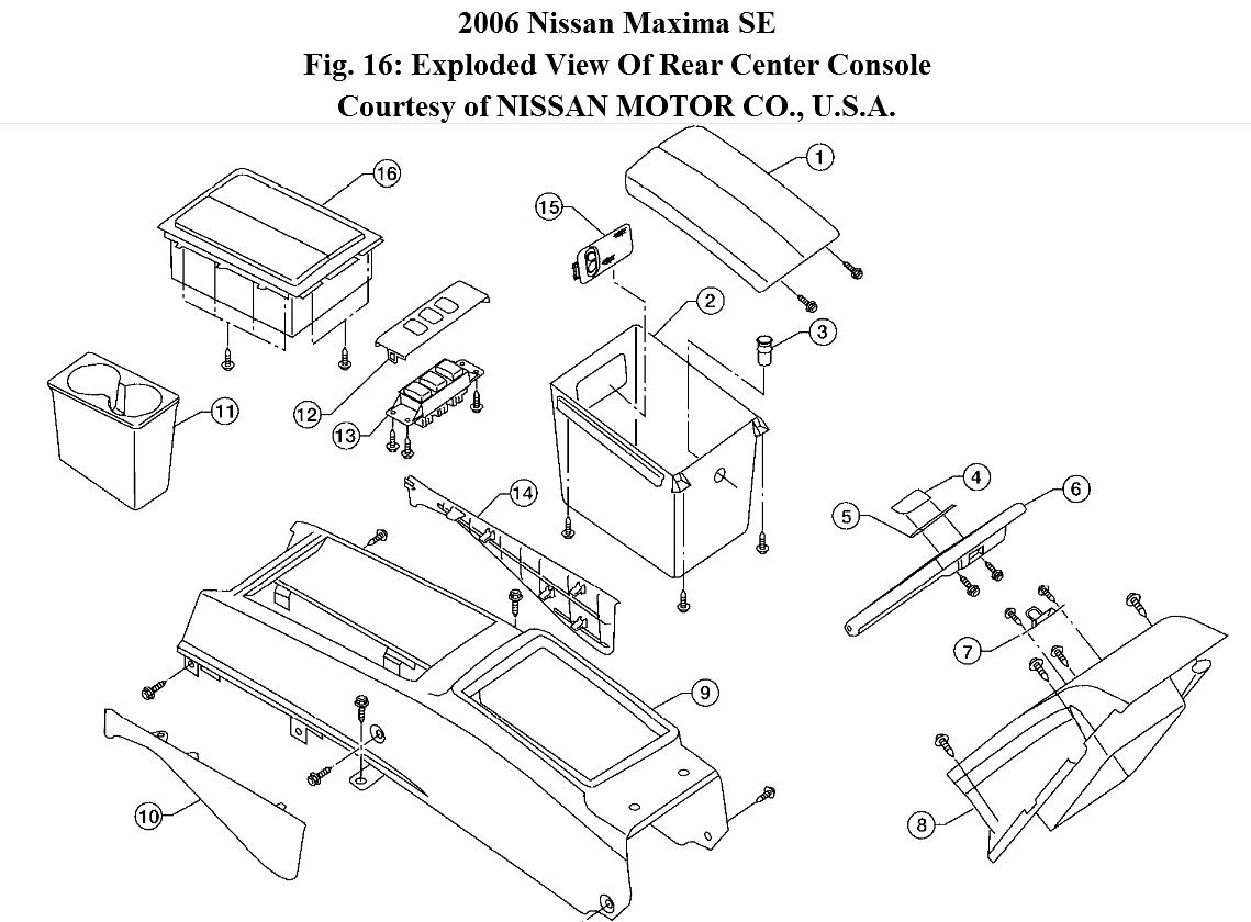 Center Armrest How Do You Remove The Lid On 2002 Nissan Maxima Fuse Box Lids Thumb
