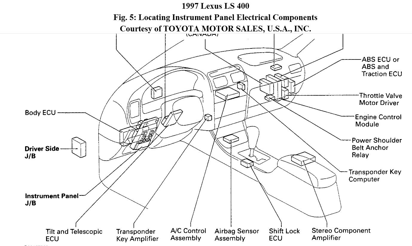 92 lexus ls400 fuse box diagram