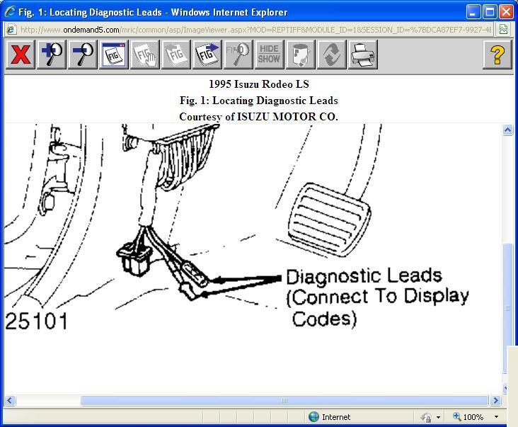 1995 Isuzu Rode Check Engine Light O My Pas Own A