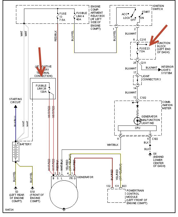 2004 Mitsubishi Endeavor Car Wont Start After Getting Gas additionally 2009 Impala Rear Defrost Wiring Harness further Ford Mustang Starter Solenoid Wiring Diagram furthermore Ford F 150 1993 Ford F150 Cranks But Wont Start also 2mckm 1998 Ford Escort Zx2 Put New Motor. on burnt fuse from car