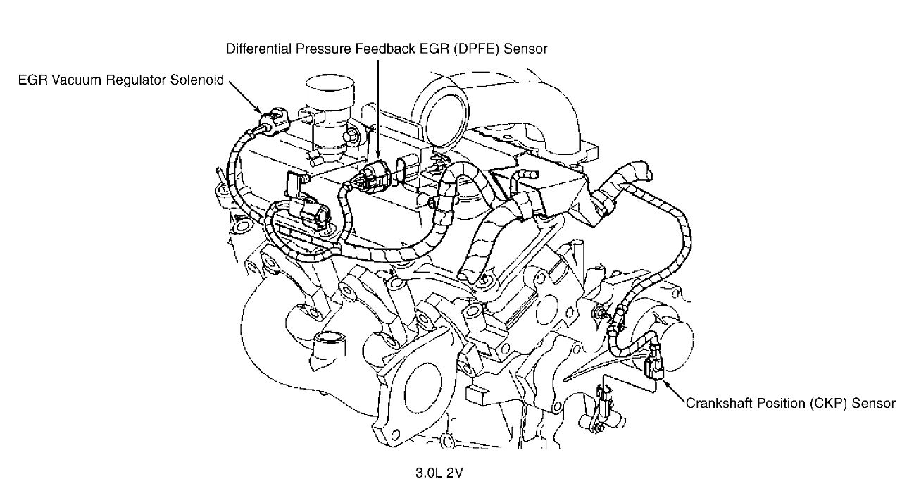 where is the egr valve located