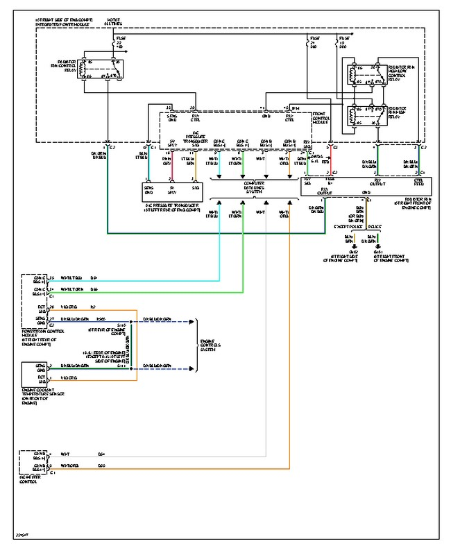 original radiator fan not working why will my radiator fan not turn on? 2006 chrysler pacifica wiring diagrams at virtualis.co