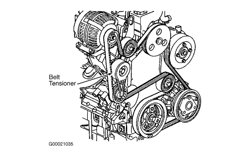 serpentine belt  belt routing diagram  showing pulleys