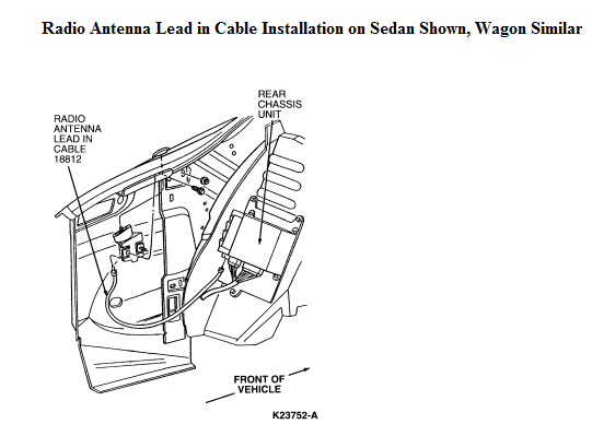 ford taurus antenna location