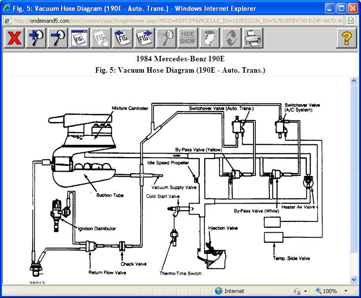 mercedes benz vacuum diagrams mercedes benz vacuum line diagram