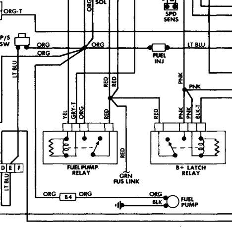 Fiat Spider 124 Electrical Schematics And Wiring Harness80 82 furthermore 1994 Volvo 960 Fuse Relay And Circuit Breakers likewise T6825466 2002 jeep wrangler 6 cylinder together with Yj Jeep Fuel Diagram Wiring Schematic additionally Discussion D182 ds571008. on jeep wrangler fuel wiring harness diagram