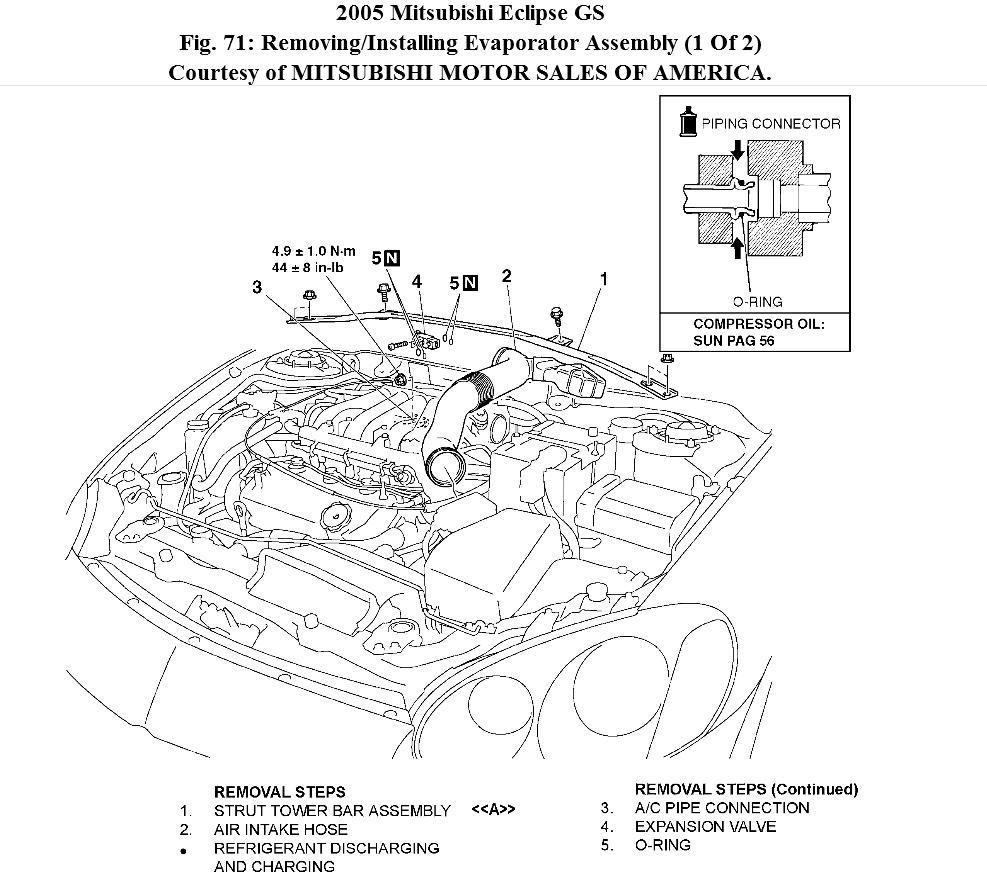 Mitsubishi Eclipse Ac Diagram Custom Wiring 2000 Radio 2003 Air Conditioning How Do I Replace The Evaporator Rh 2carpros Com