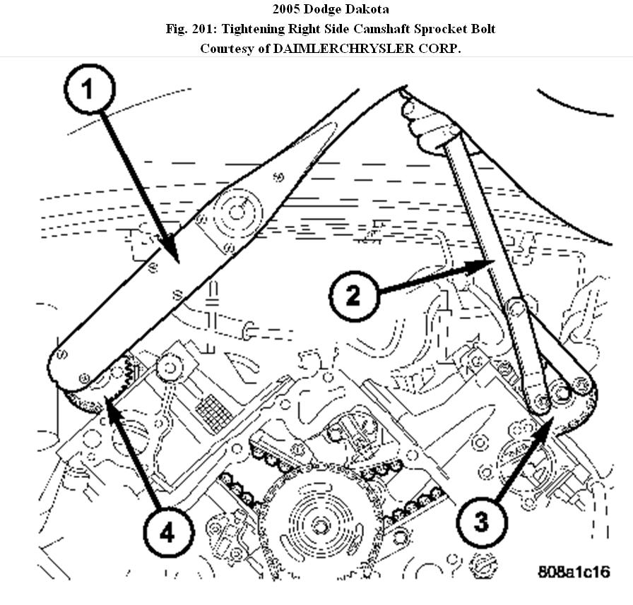 service manual  2006 dodge dakota engine timing chain