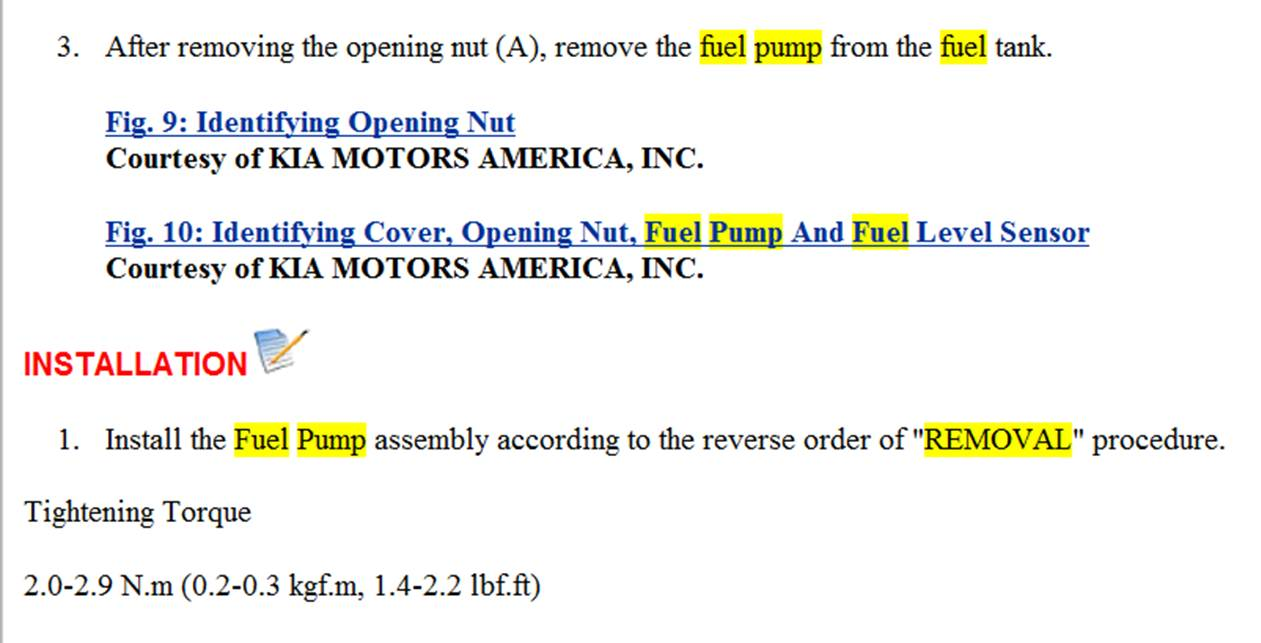 My Fuel Pump Went Out What Is The Easiest Way O Replace It Kia Thumb