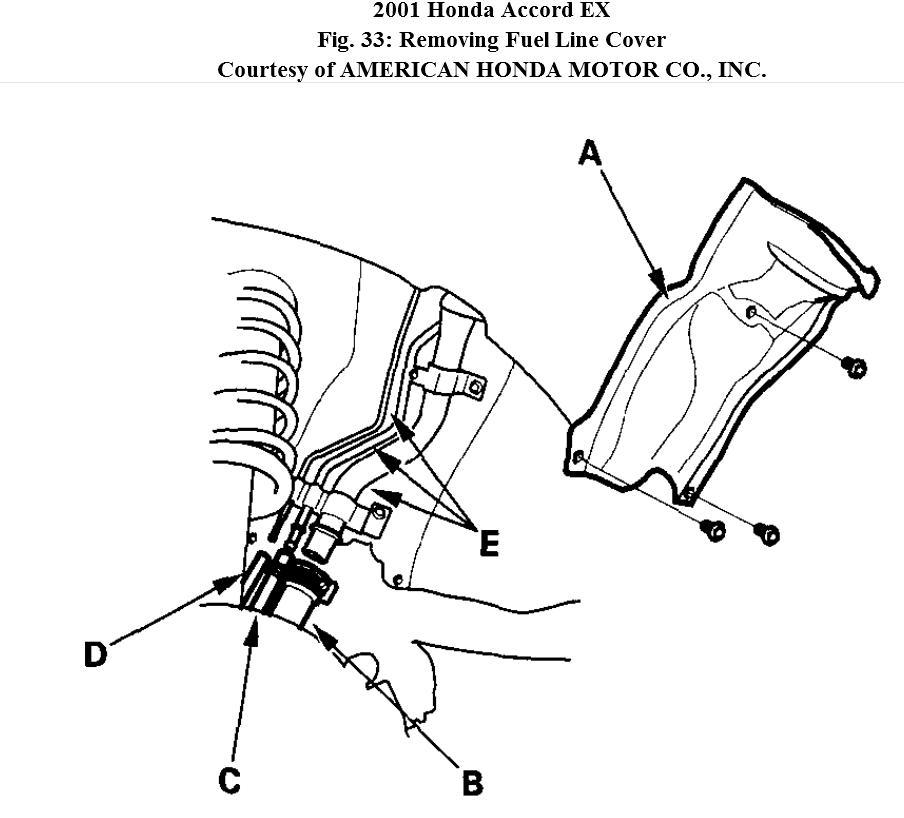 Driverssideperch moreover D Accord Problem Code P Null furthermore Master Brake likewise D V Fuel Pulsation D er Banjo Fitting Leak Th Gen V Fuel Line likewise . on honda accord fuel line leak