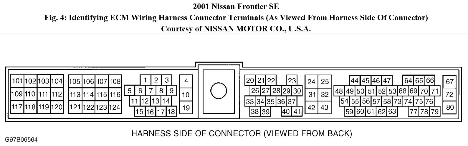Nissan Frontier Ecm Diagram Worksheet And Wiring Trailer I Have A 2001 Se Xe W 3 3l 6cyl Engine No Rh 2carpros Com