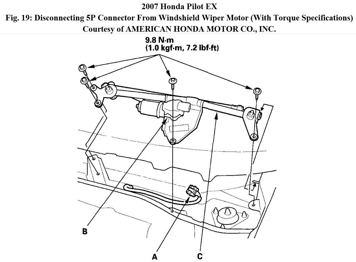 1999 Honda Wiper Arm Diagram Reinvent Your Wiring Motor Linkage Broke The Other Evening Is This A Difficult Repair Rh 2carpros Com Windshield Parts